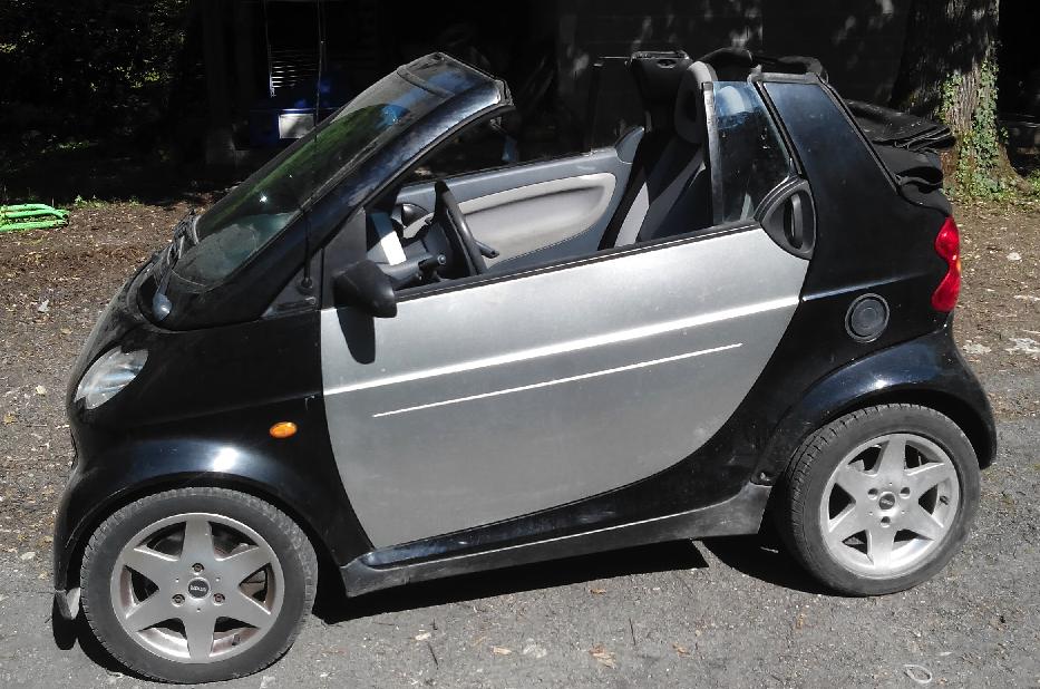 Présentation de mon cabriolet pour deux Smart